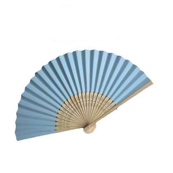 White Paper Wedding Fan Stock Market Personalized