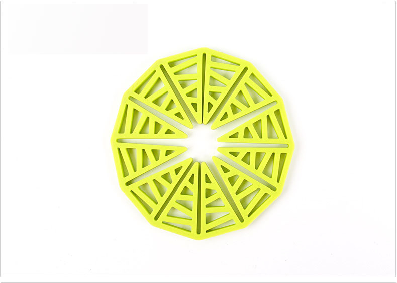 Customized Hollow Sunflower Silicone Pot Mat Table Mat