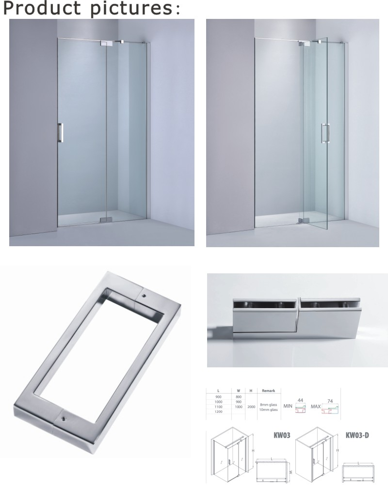 Bathroom Shower Room Manufacturer/Adjustable Shower Screen (KW03D)