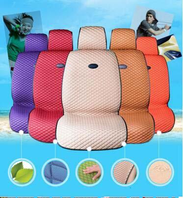 Car Seat Cover Flat Shape Ice Silk 2 Seat