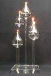 Clear Colorful Glass Candle Holder/Candlestick