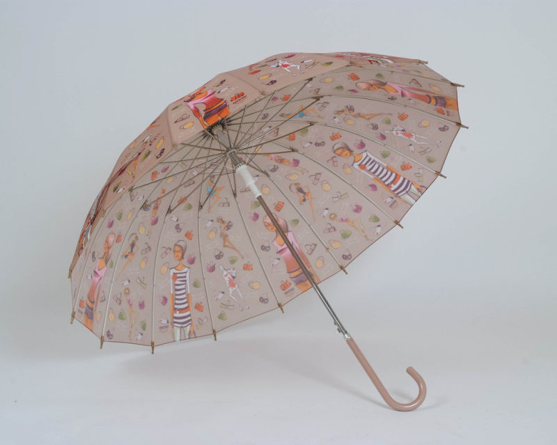 Auto Open Fashion Ladies Straight Umbrella (BD-12)