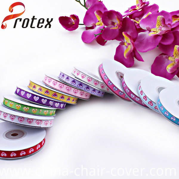 Heart Shape Printed Grosgrain Ribbon