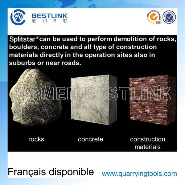 Non-Explosive Rock Melting Chemical for Breaking Blocks