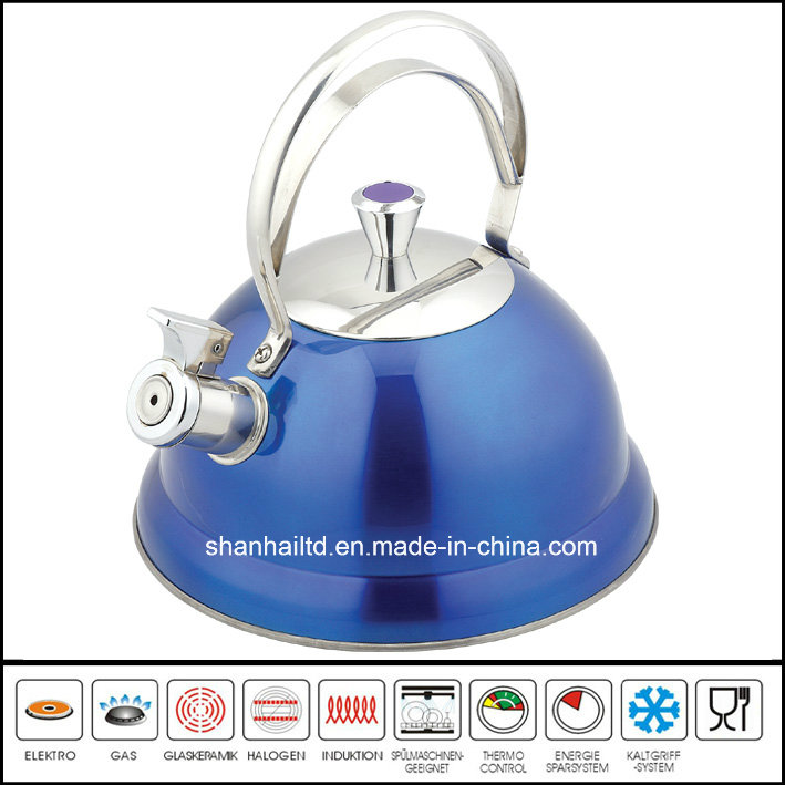 Full Color Painted Stainless Steel Whistle Kettle Kitchenware