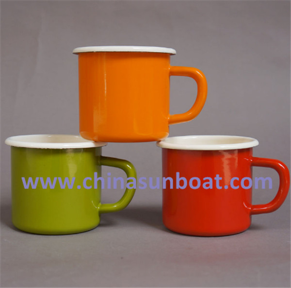 Sunboat Thickened Office Coffee Cups Breakfast Milk Glass Children Glasses Enamel Cup/Mug Tableware