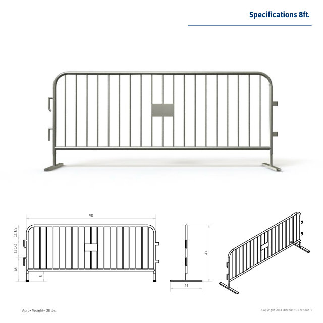 UK Type Hot Dipped Galvanized Steel Barricades
