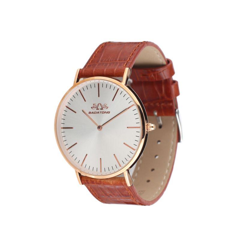 Hot Selling Genuine Leather Quartz Wrist Watch