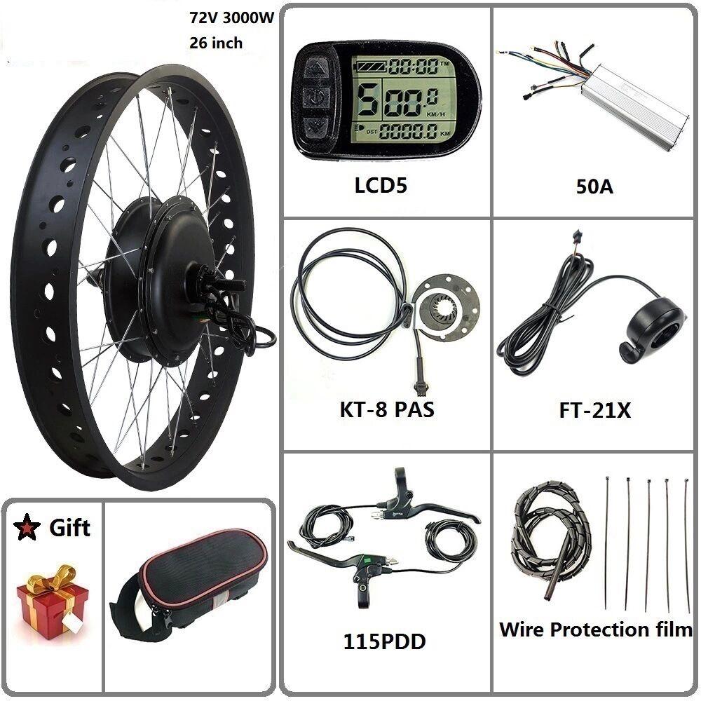 72v 3000w fat tire motor kits