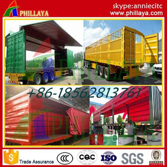 Bulk Light Cargo Transport Van Semi Curtain Side Trailer