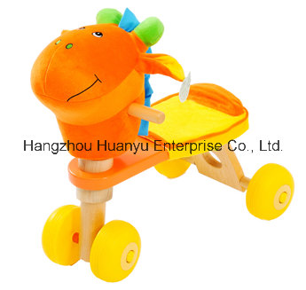 Good Quality Baby Wooden Bicycle with Donkey Head