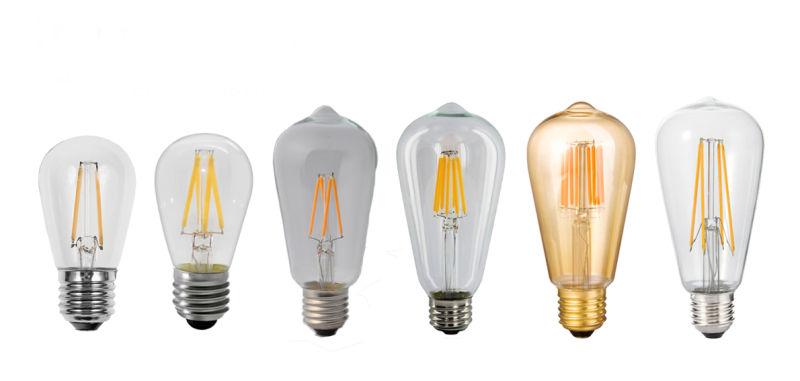 LED St45 Filament Light Bulb 2W 4W 6W
