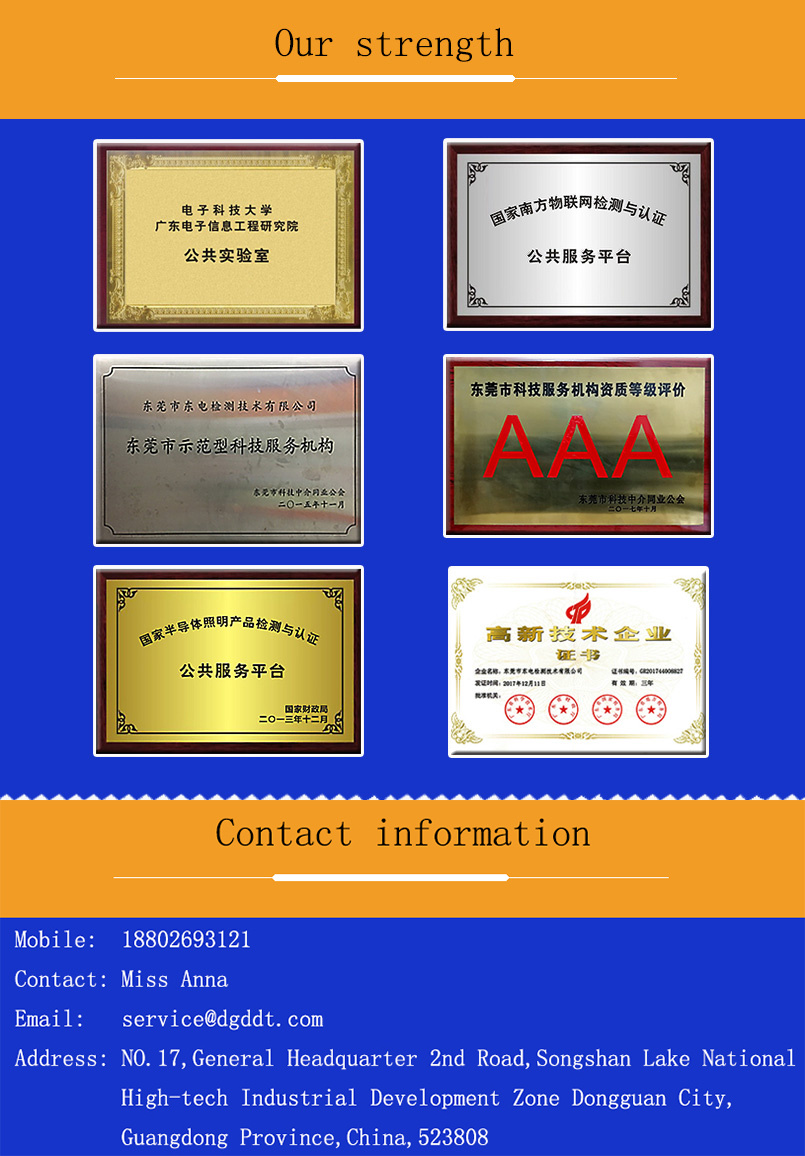 Authoritative Laboratory Certification and Testing for LED Lights