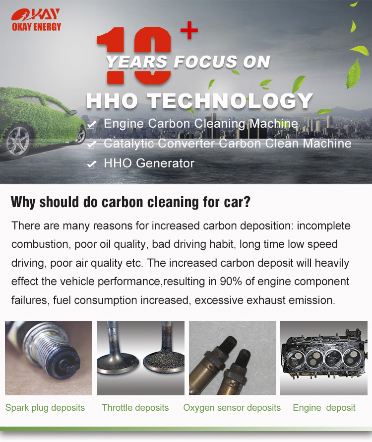 Mini Portable Carbon Cleaning Machine for Motorcycle and Light Commercial Car