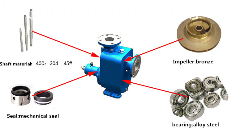 Horizontal end suction sea water centrifugal pump
