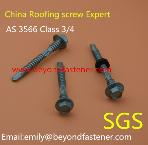 Roofing Screw Bimetal Screw Bolts Fastener Half Thread