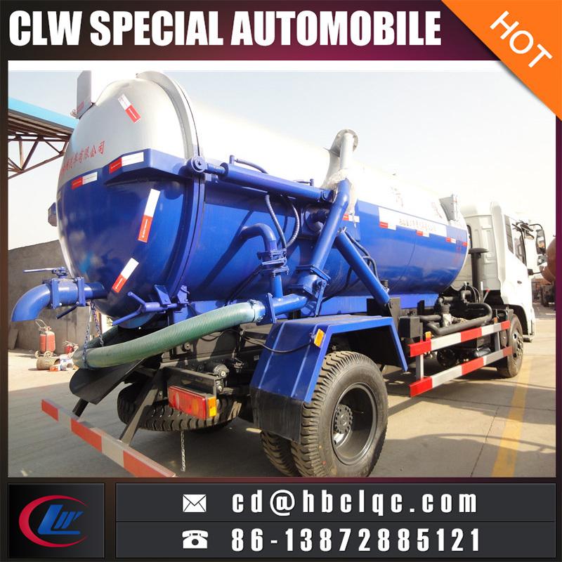 Dongfeng 10t Sewer Sucking Tank Truck Vacuum Tank Vehicle