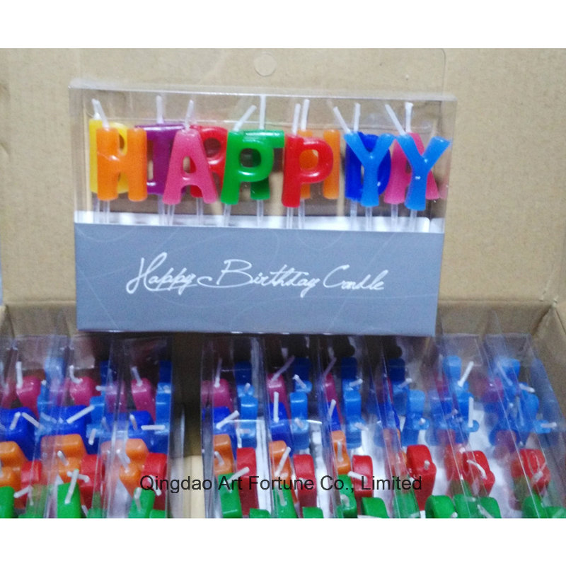 Happy Birthday and Party Cake Candle