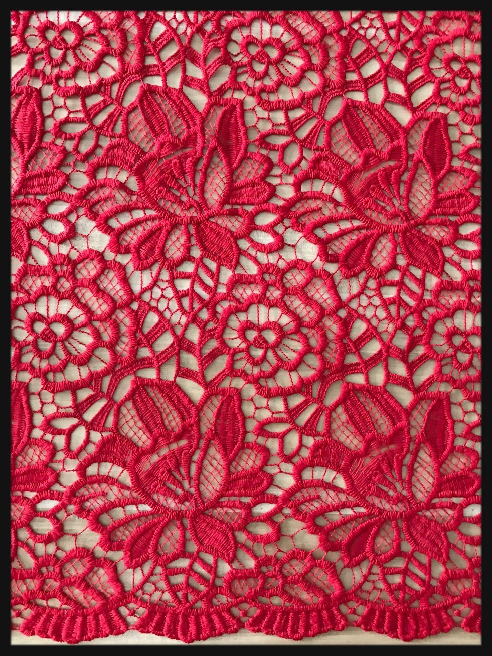 Flower Embroidered Lace Guipure Lace Chemical Guipure Lace