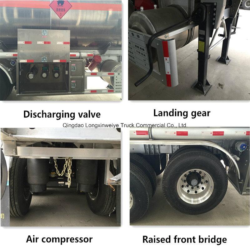 China Manufacturer 3 Axles Fuel Tank Semi Trailer