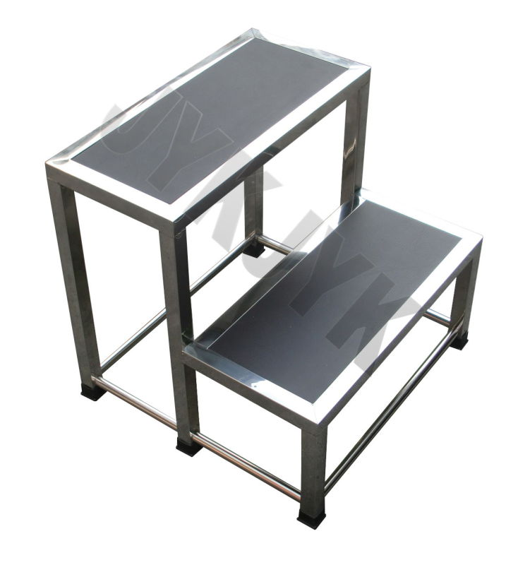 Stainless Steel Footstool with Double Steps