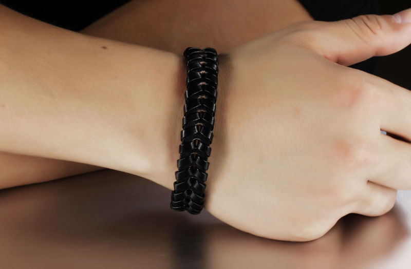 Fashion Jewellery Leather Jewelry Leather Bracelet (LB087)