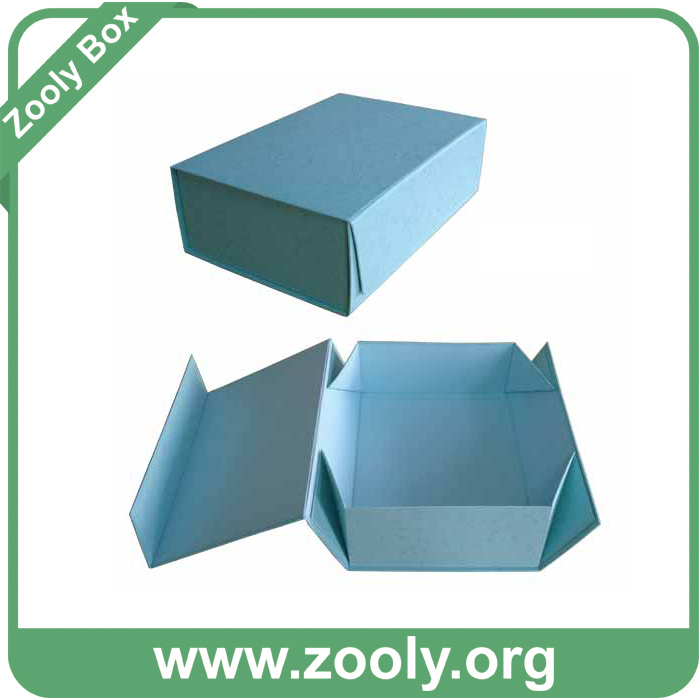 Small Black Decorative Paper Folded Box with Ribbon