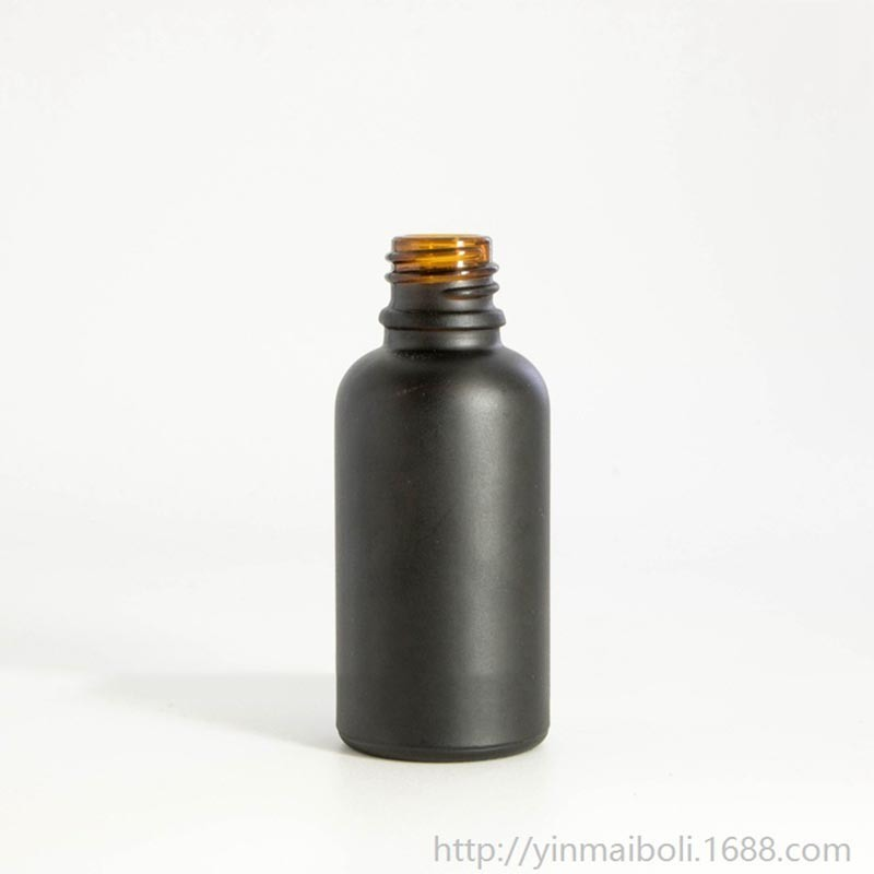 Black Glass Bottle with Dropper (NBG05)