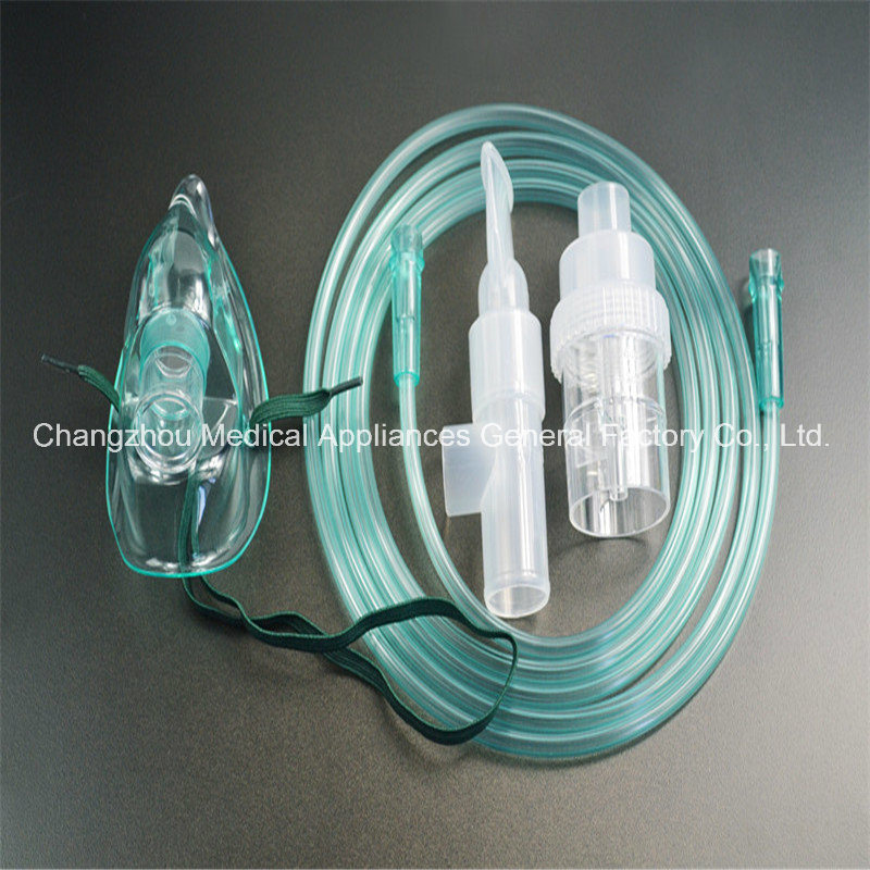 Ce/ FDA Approved Medical Oxygen Nebulizer Mask with Tube and 10cc Nebulizer Cup