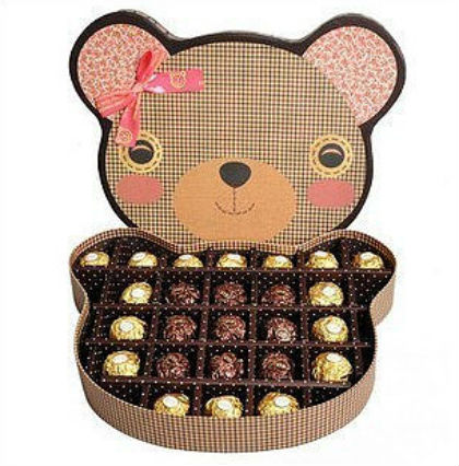 Elegant Chocolate Gift Box with PVC Window