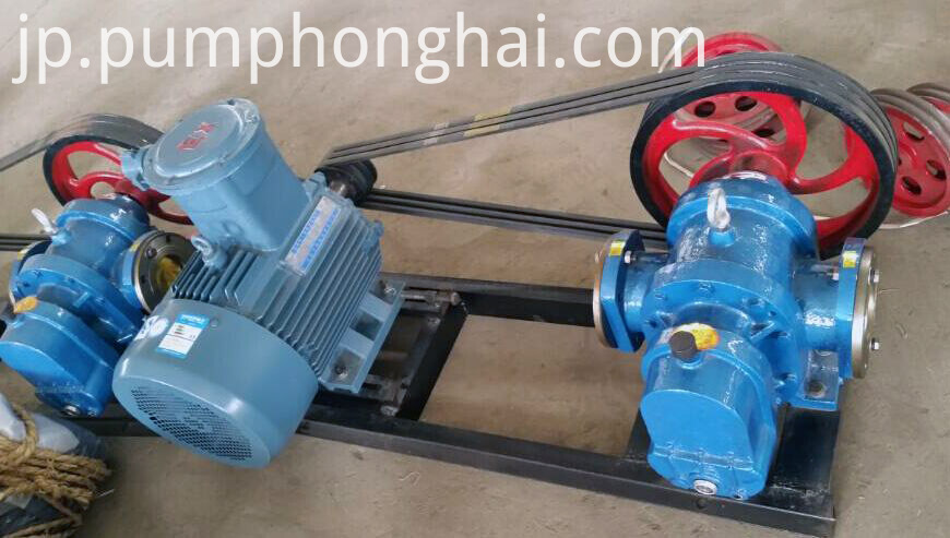 pulley belt drive type pump