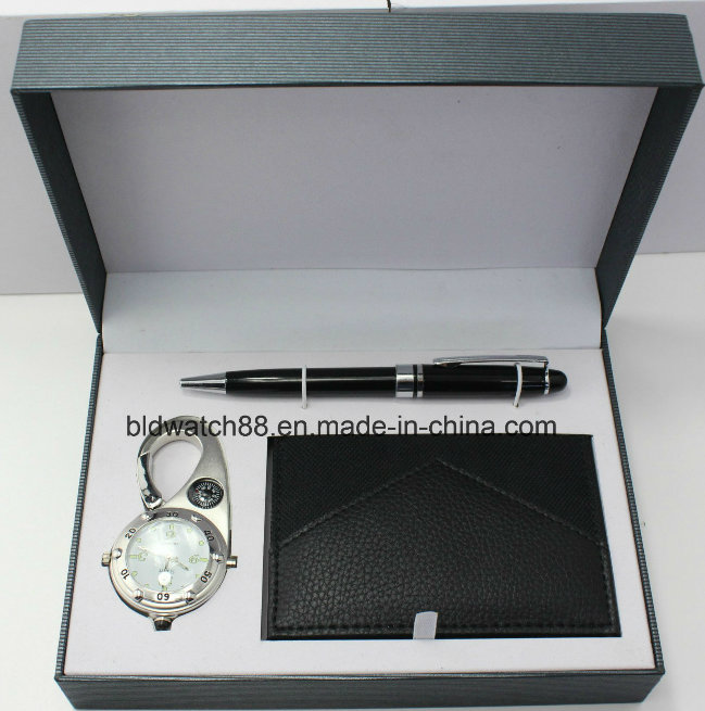 Pocket Watch with Pen Set