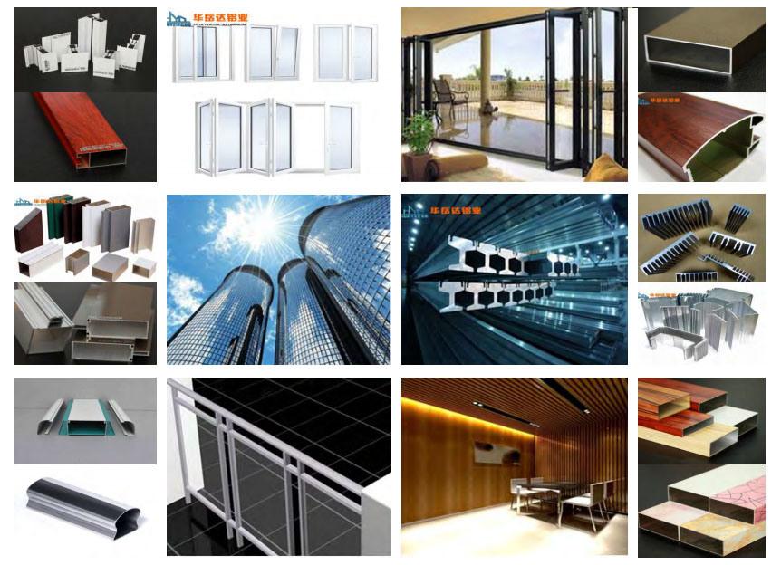 Huayueda Aluminium Profiles Sliding Wardrobe Square Tube