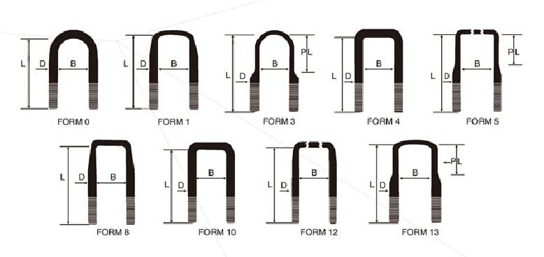 Stainless Steel Hardware Suspension Fastener Parts U Bolt for Truck/Trailer