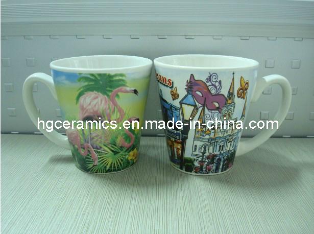 V-Shaped Ceramic Mugs, 12oz Coffee Mug