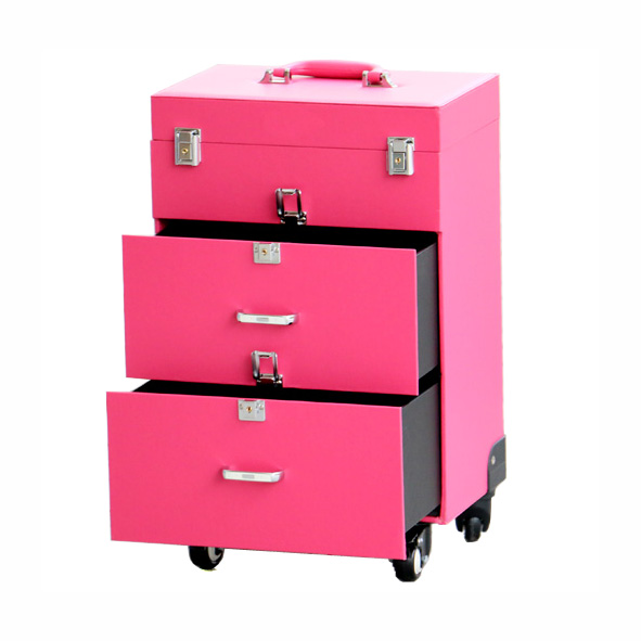 Travel Flight Trolley Beauty Case with Drawers