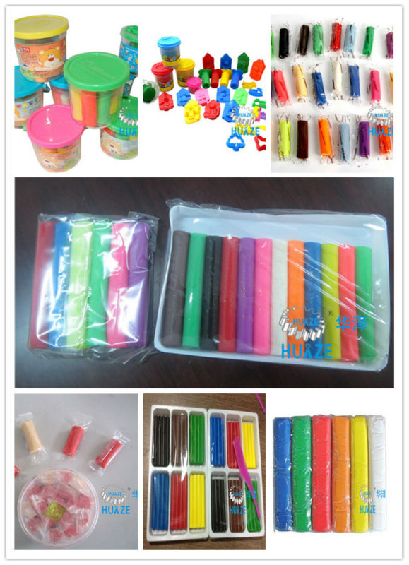 12 Colors Plasticine Extrude Packaging Line, Play Dough Packaging Machine