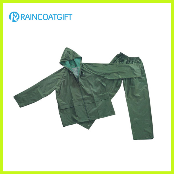 Durable PVC Polyester Safety Rainsuit
