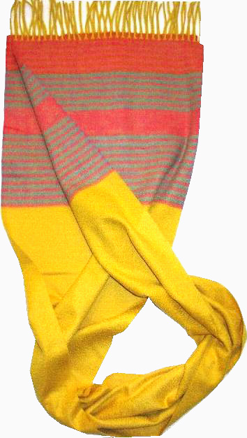 100%Cashmere Color Stripe Scarf