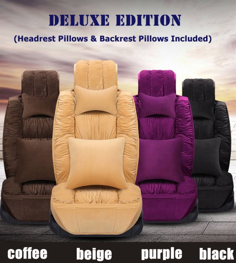 Car Seat Cover Universal High Quality Soft Velvet Full Surround Protector Seat Chair Cushion Covers Auto Accessories Car-Styling