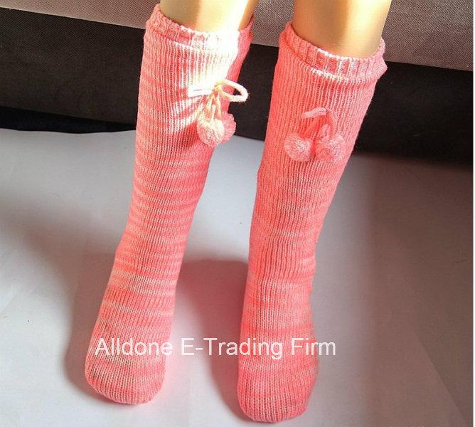 2016 Men Knee Knit Indoor Floor Slippers Socks