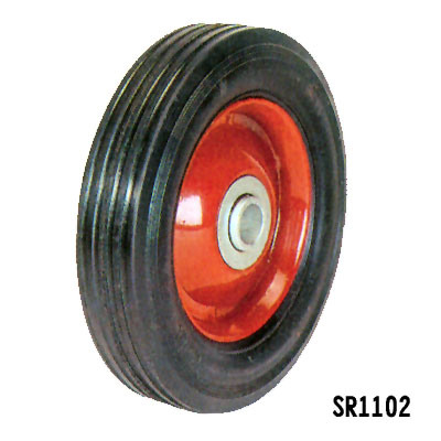 High Quality Solid Wheel with Plastic or Metal (SR1102)
