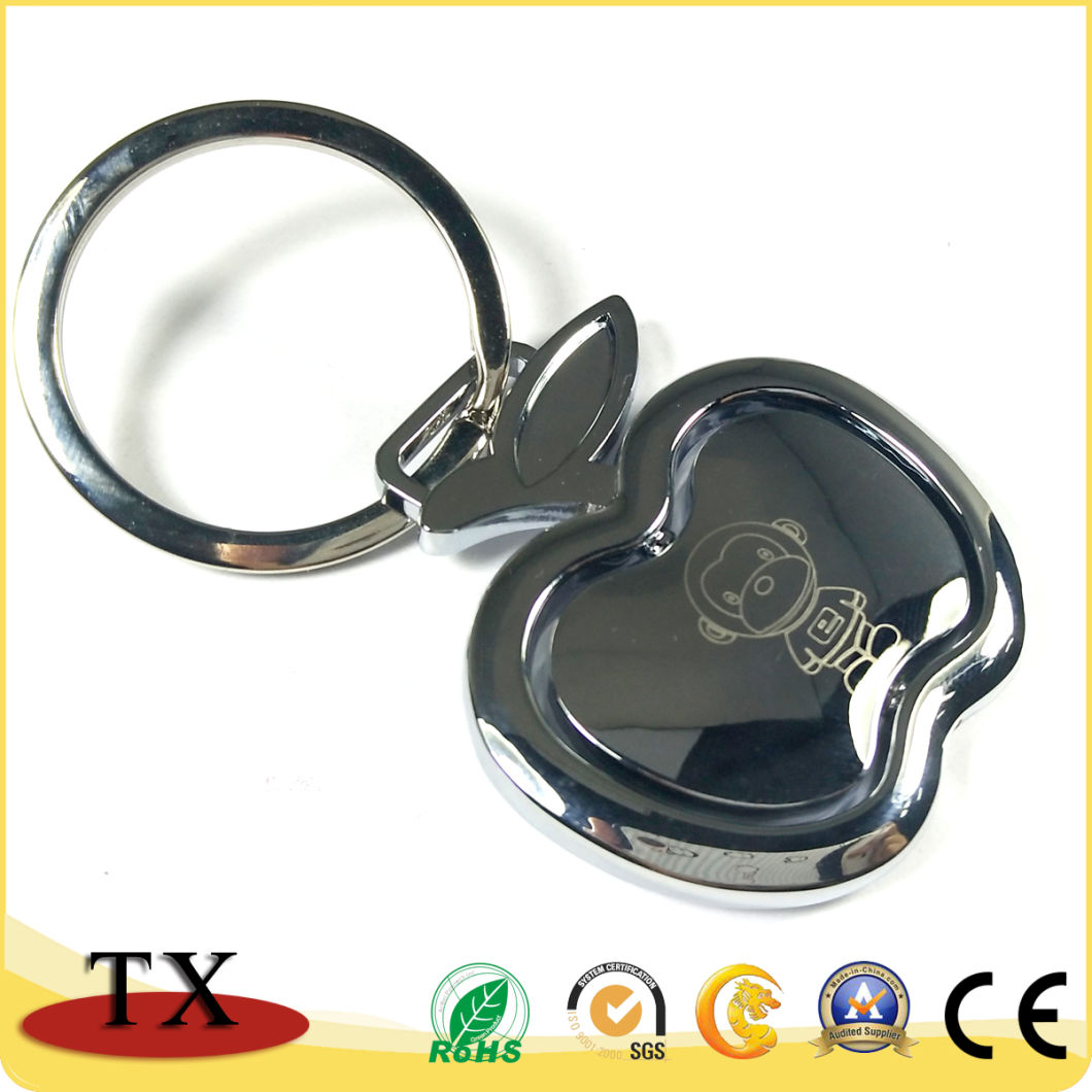 Custom Apple Shape Rotating Spinner Metal Key China