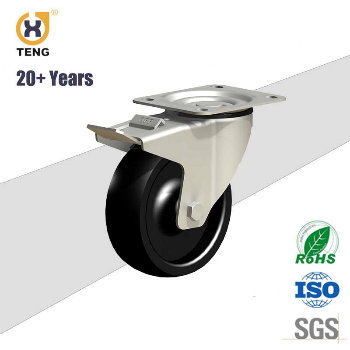High Quality 5 Inch Nylon Heavy Duty Caster with Brake