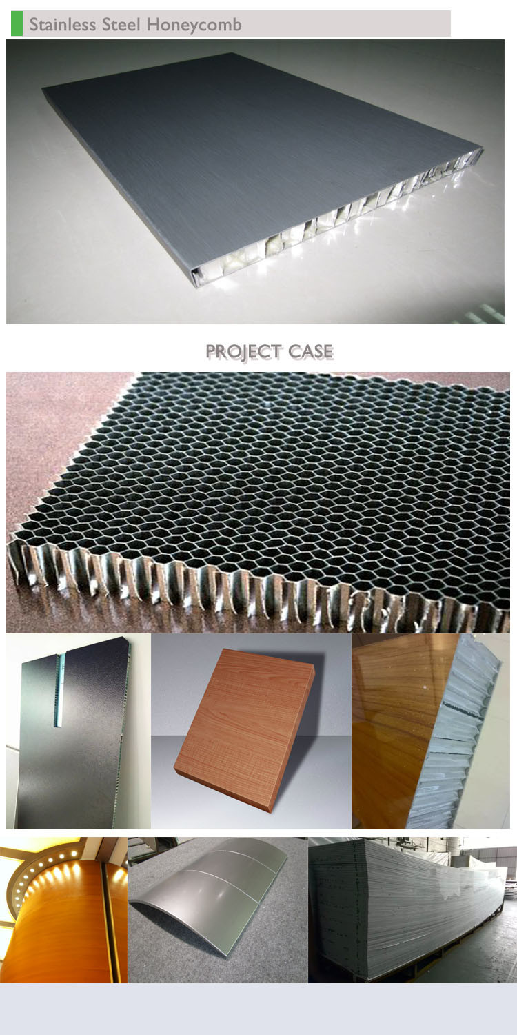 304 316 Aluminium Honeycomb Stainless Steel Composite Panels for Metalworking Project