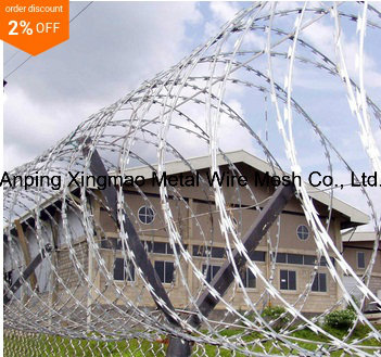 Security Protected Concertina Razor Barbed Tape Wire (CBT-65)