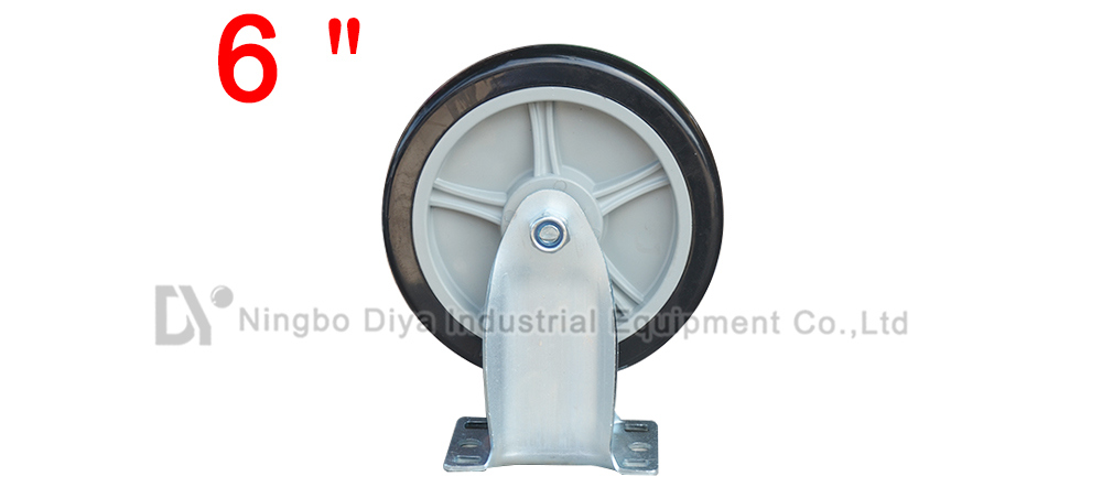 6 Inch Black PU Caster Wheel Without Brake