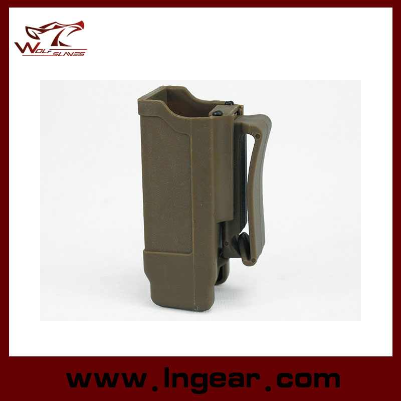 Tactical Airsoft CQC Double Stack Pistol Magazine Pouch Case for Police