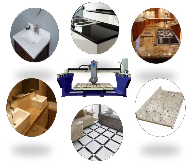 Stone Bridge Saw with Full of Options Cutting Granite Marble Slabs&Tiles&Countertops (XZQQ625A)