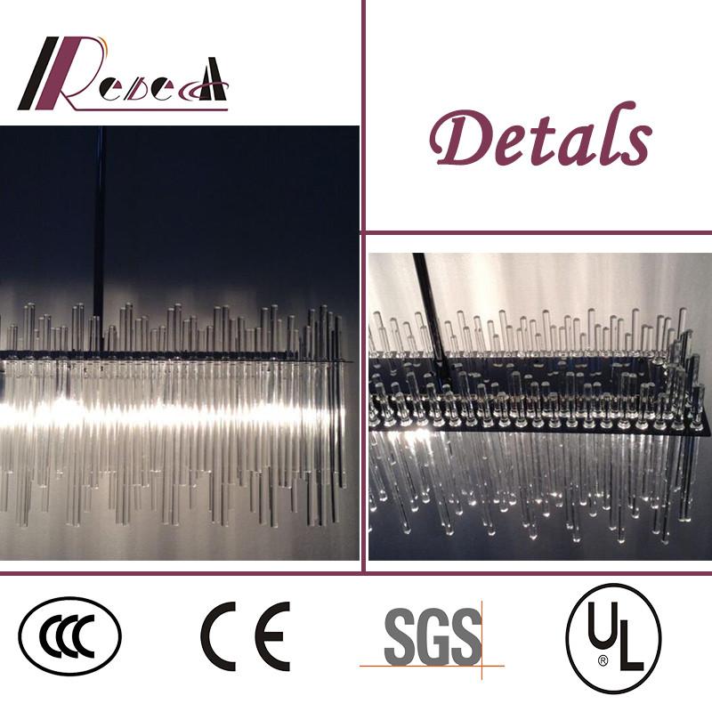 Modern Hotel Decorative LED Glass Tube Ceiling Light